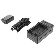 ismartdigi-Sony NP-FW50 (2 buc) 1080mAh, 7.2V aparat foto baterie + încărcător de mașină pentru SONY NEX-5T 5R 3N F3 C3 A7 7 A55 A35 A7R