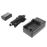 ismartdigiソニーNP-FW50(2個入り)ソニーNEX-5T 5R 3N F3、C3 A7用1080mah、7.2Vカメラバッテリー+車の充電器7 A55 A35 A7R
