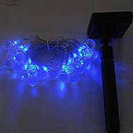 40LED Blue Solar LED Light String Christmas Party Fairy