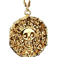 Heren Hangertjes ketting Legering Doodshoofdvorm Bronzen Gouden Sieraden Feest Dagelijks Causaal Kerstcadeaus