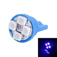 T10 4W 120LM 4×3528 SMD LED Blue Light for Car Dashboard / Door / Trunk Lamps (DC 12V,, 1Pcs)