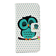 Pour Coque iPhone 5 Porte Carte Avec Support Coque Coque Intégrale Coque Chouette Dur Cuir PU pour iPhone SE/5s/5