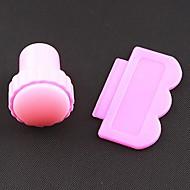 Nail Art Stamping Kit Stempel / Stamper / Scraper