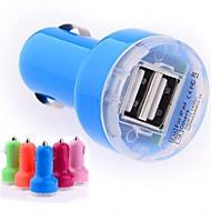Mini Adaptateur Chargeur automatique de voiture DC 12-24V 2.1A / 1A Dual-USB pour iPhone iPod Smart Phone