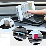 silicone auto cellphone stand pad voor iPhone (zwart)