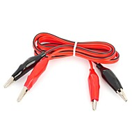 DIY Multimeter Alligator Clip Test Lead Cables (100cm)