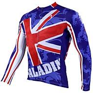 Hauts/Tops / Mailliot de Sport de détente / Cyclisme/Vélo Homme Manches longues Rouge / Bleu royalRespirable / Résistant aux ultraviolets