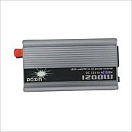 Carking ™ Universal liga de zinco 1200W DC 12V a 220V AC Power Inverter com isqueiro do carro - Prata