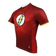 Maillot cyclisme vélo manches courtes foudre printemps et l'été de style 100% polyester des hommes paladinsport