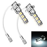 Merdia H3 5W 300LM 13x5050SMD LED White Light Car Headlamp / Foglight - (12V / 2 PCS)