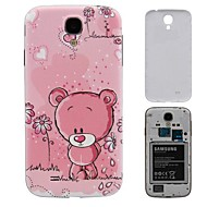 Carton Pink Bear PC Hard Battery Back Cover Housing for Samsung Galaxy S4 i9500