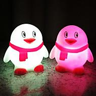 Pingüino Rotocast cambian de color de luz de la noche