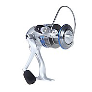 9BB Rodamientos izquierda / derecha intercambiable manija plegable Pesca Spinning Carrete LK5000 5,5:1 (0.35mm/150m)