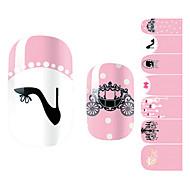 28PCS Black High Heels Gentlewoman Design Nail Art Stickers