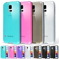 matowe przezroczyste etui przykrywką dla Samsung Galaxy S5 9600