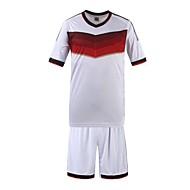 Men's Striped Sport T-Shirt,Organic Cotton Short Sleeve-White
