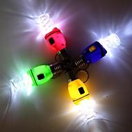 Spiral pære Style LED Hvid lommelygte nøglering - 1stk (3 x AG3)