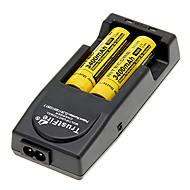 NITECORE NL189 3400mAh 18650 Batetry (2PCS) 및한다 TrustFire TR-001 충전기 + 배터리 보관 상자