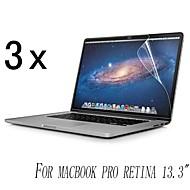 [3-Pack] High Quality Invisible Tarcza Smudge Screen Protector Dowód MacBook Pro Retina o przekątnej 13,3 cala