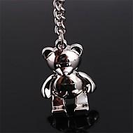 Krásné kytara Osobnosti Teddy Bear Creative Key nerezové oceli Keychain