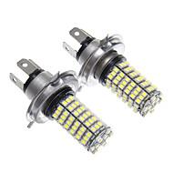 H4 120x3528SMD White Light LED für Scheinwerfer-Birnen (2 Stück)