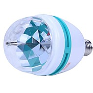 3W E27  Colorful Rotating RGB 3 LED Spot Light Bulb Lamp