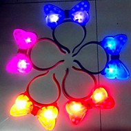 Coway Super Bright LED Nightlight Butterfly Headbands Christmas Holloween(Random Color)
