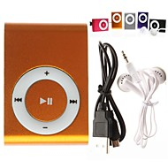 Mini Clip Plug-In Micro SD Card TF Card Reader MP3 Music Player (Assorted Colors)