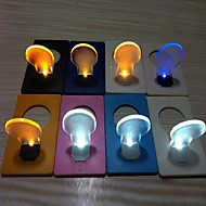 Coway Novelty Credit Card Design Bulb Shaped  LED  Night Light (Random Color)