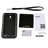 LOVE MEI Aviation Aluminum Alloy Case for Samsung Galaxy Note 3 - Black + Transparent