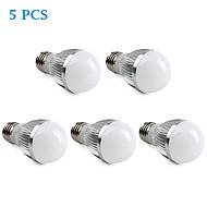 5 pcs E26/E27 4.5 W 15 SMD 5630 360 LM Natural White A Globe Bulbs AC 220-240 V