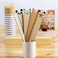Cute Animal Holz Gerade Ruler (Farbe sortiert)