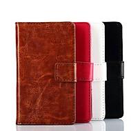 のために Nokiakケース ウォレット / カードホルダー / スタンド付き ケース フルボディー ケース ソリッドカラー ハード PUレザー Nokia Nokia Lumia 520