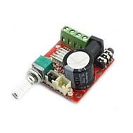 미니 디지털 오디오 증폭기 10w + 10w / 2 채널 A / DIY 모듈 클래스 D 하이파이 2.0 (DC12V)