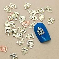 Klatka kromka kształt 200szt metalowy ptak dekoracji paznokcie