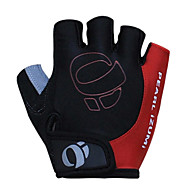 KORAMAN Men's Cycling Gloves Fingerless Black&Red Nylon Bike Bicycle Half Finger Cycling Gloves
