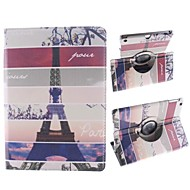 Stripe Paris Eiffel Tower Design 360 Degree Rotating PU Leather Case with Stand for iPad Air