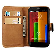 Genuine Leather Wallet Stand Design Case for Motorola Moto G