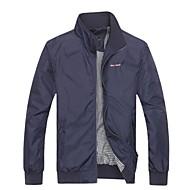 Men's Fashion Leisure Pure Color Collar Jacket