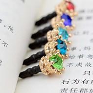 Crown muotoinen zirkoni metalliseos anti-pöly pistokkeen (random väri)