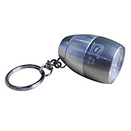 Camping Mini Ultra Bright 8-LED 20LM White Light Flashlight with Keychain (20LM,2×CR2032,Silver)