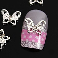 10pcs   Hollow Butterfly Rhinestone Alloy For  Finger Tips Jewelry Accessories Nail Art Decoration