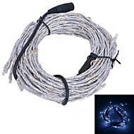 Xinyuanyang® Vine Style 10.8W 180x0603 SMD 900lm White Light Flexible LED Strip Lamp - Silver + Black (12V)