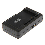 carregador de bateria universal Yby-c1 slide-out para a câmera com saída usb