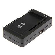 cargador de batería universal yby-c1 deslizable para cámara con salida usb