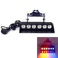 6 LED 3W Emergency Windshield  Strobe Lightbar Car Styling LightBar (Optional Colors)