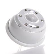 6 הוביל-3-מצב תנועת חיישן אינפרא אדום אור הלבן מופעלת הוביל מנורת הלילה (4xaaa)