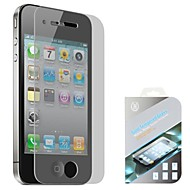 High Quality 0.4mm 2.5D Gold Tempered Glass for iPhone 4/4S