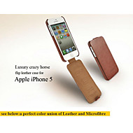 ultra tynn luksus tilfelle for iphone 5 flip deksel etui til iPhone 5s