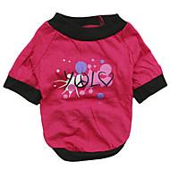 猫用品 / 犬用品 Tシャツ ピンク 犬用ウェア 夏 文字&番号